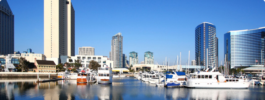 View of the San Diego Harbor