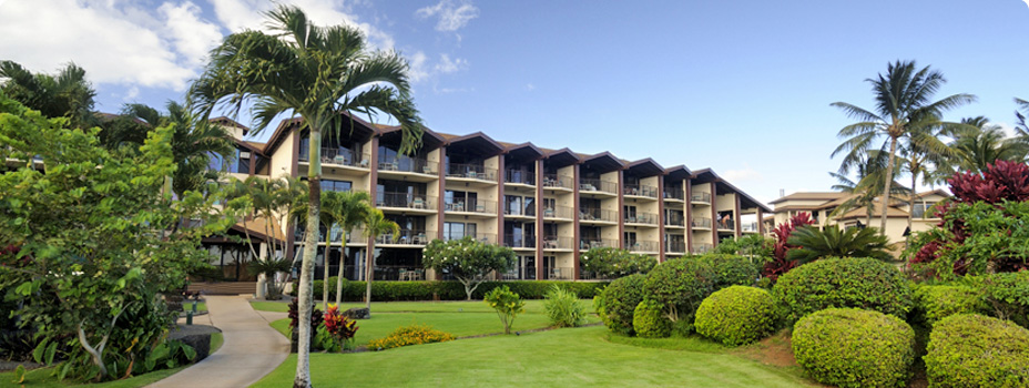 The exterior of the Lawai Beach Resort